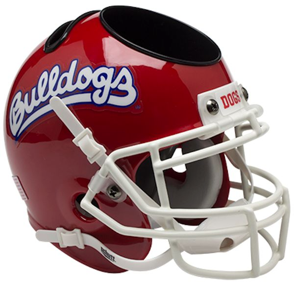 Fresno State Bulldogs Mini Helmet Desk Caddy - Scarlet