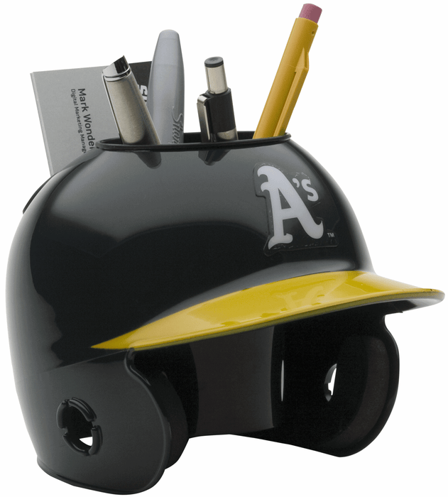 Oakland Athletics Mini Batters Helmet Desk Caddy