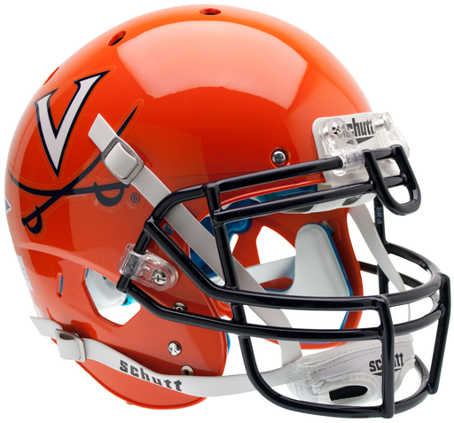 Virginia Cavaliers Authentic Schutt XP Full Size Helmet - Orange