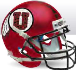 Utah Utes Replica Schutt XP Full Size Helmet - Satin Red Black Mask