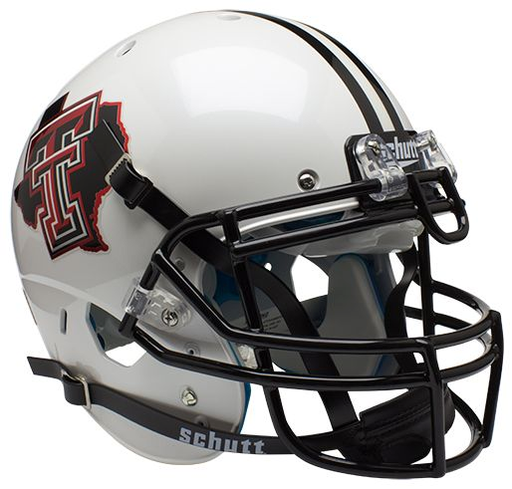 Texas Tech Red Raiders Authentic Schutt XP Full Size Helmet - Pride White