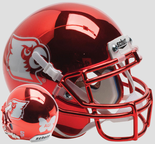 Louisville Cardinals Schutt XP Mini Helmet - Red Chrome Ali
