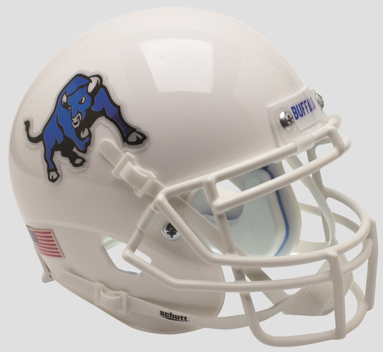 Buffalo Bulls Schutt XP Mini Helmet - White Bull