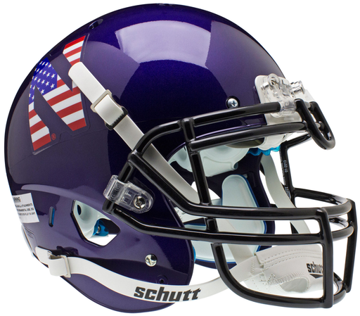 Northwestern Wildcats Authentic Schutt XP Full Size Helmet - USA Flag