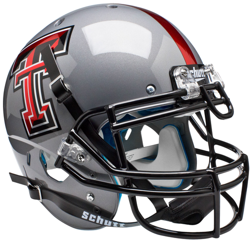 Texas Tech Red Raiders Authentic Schutt XP Full Size Helmet - Gray