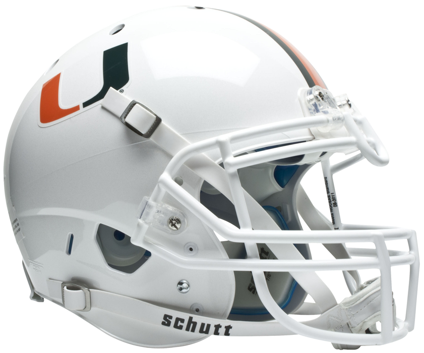 Miami Hurricanes Authentic Schutt XP Full Size Helmet