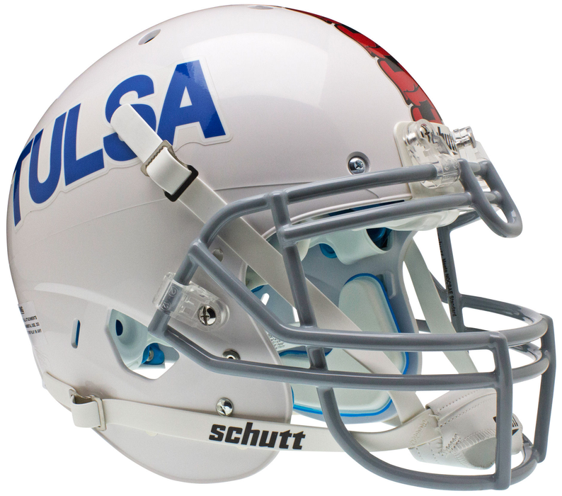 Tulsa Golden Hurricane Authentic Schutt XP Full Size Helmet - White