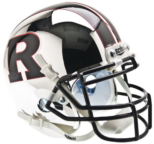 Rutgers Scarlet Knights Schutt XP Mini Helmet - Chrome Black R
