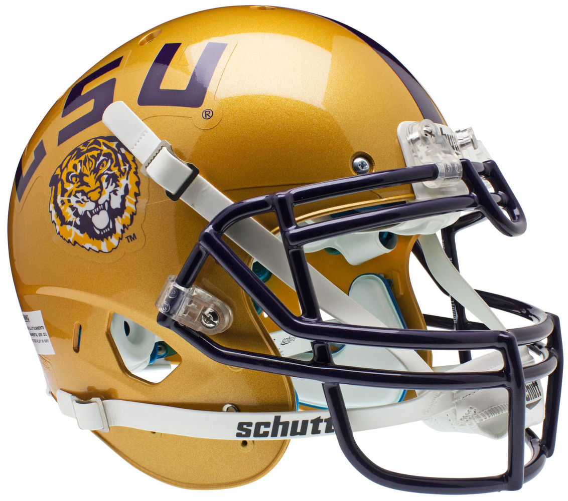 LSU Tigers Authentic Schutt XP Full Size Helmet - Gold