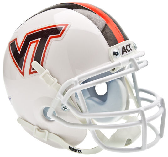Virginia Tech Hokies Schutt XP Mini Helmet - White w/ Stripes
