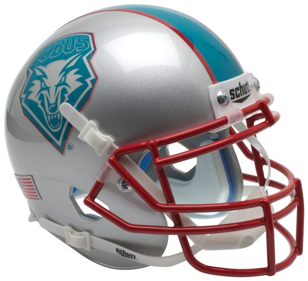 New Mexico Lobos Schutt XP Mini Helmet - Blue Decal