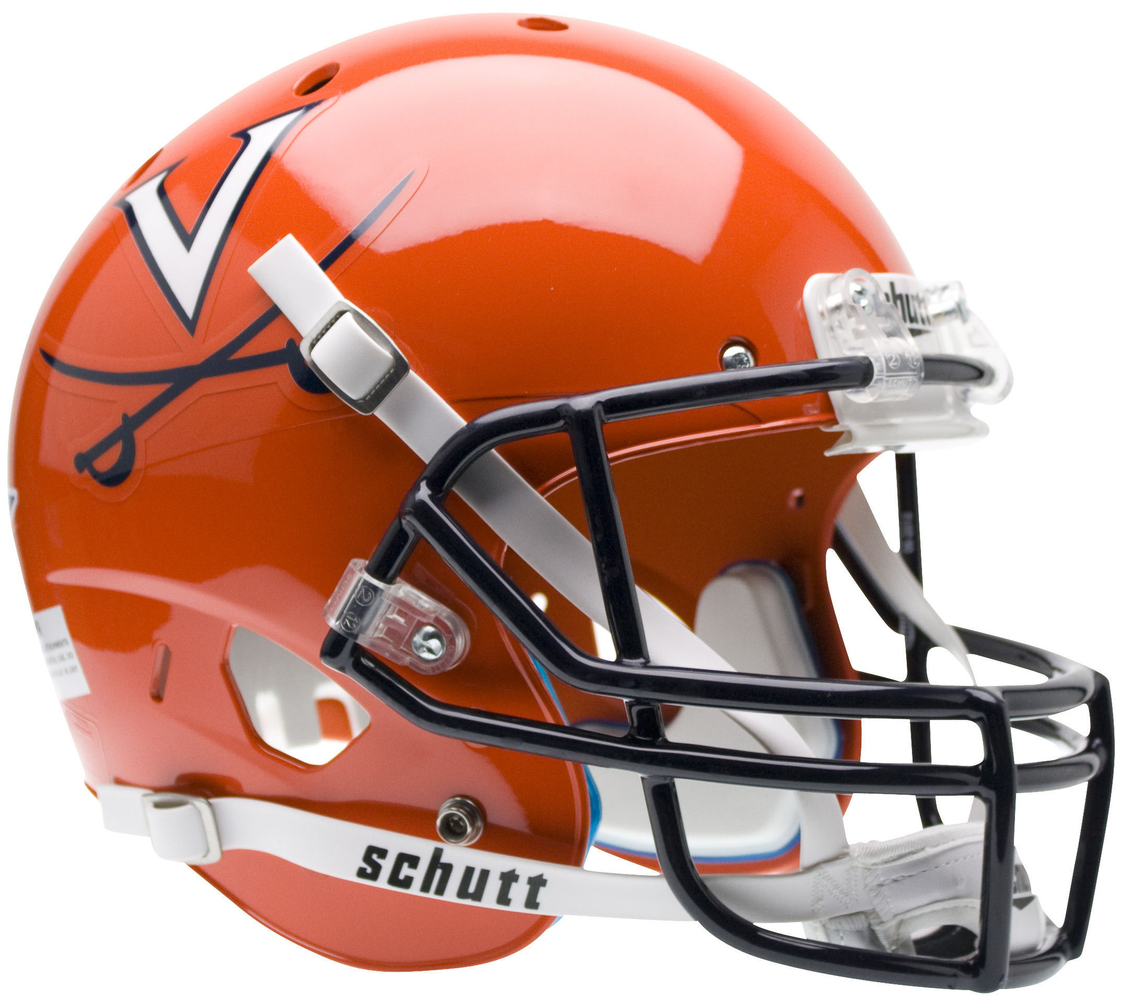 Virginia Cavaliers Replica Schutt XP Full Size Helmet - Orange