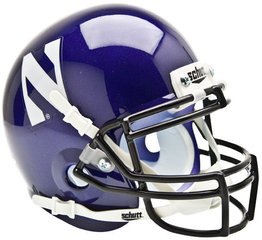 Northwestern Wildcats Schutt XP Mini Helmet