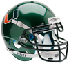 Miami Hurricanes Authentic Schutt XP Full Size Helmet - Green
