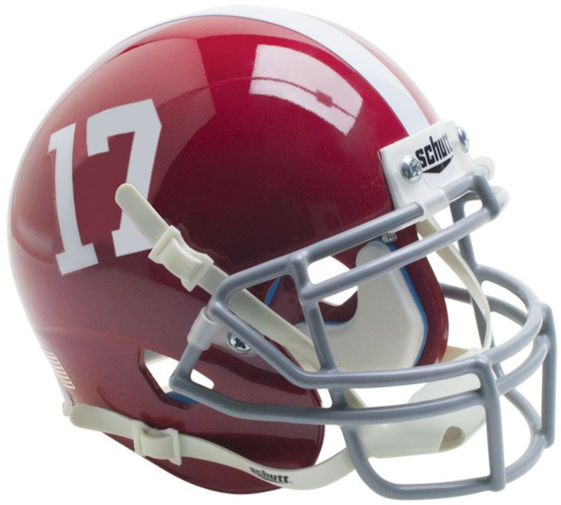 Alabama Crimson Tide Schutt XP Mini Helmet - #17