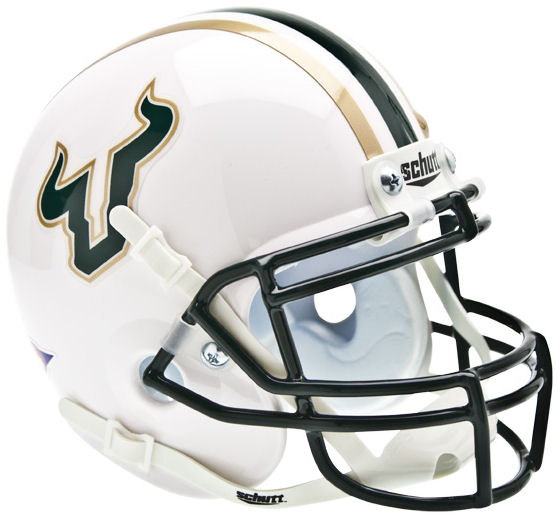 South Florida Bulls Schutt XP Mini Helmet - White