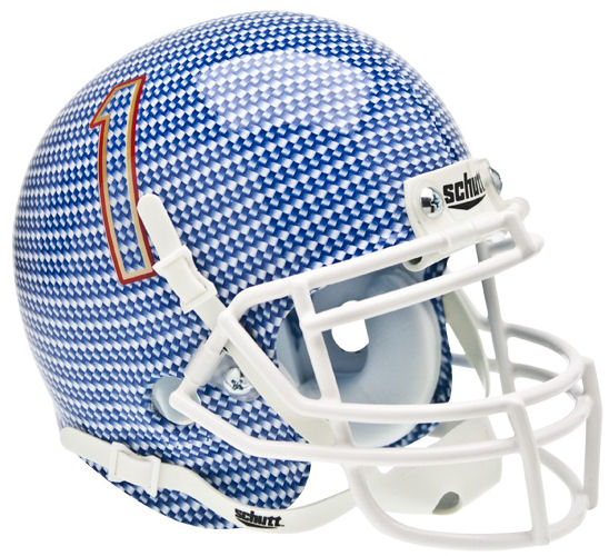 Tulsa Golden Hurricane Schutt XP Mini Helmet - Carbon Fiber
