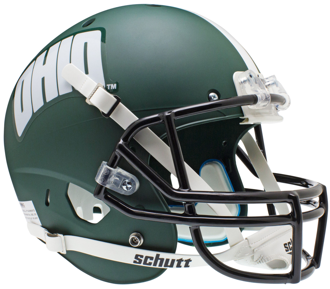 Ohio Bobcats Replica Schutt XP Full Size Helmet - Matte Green
