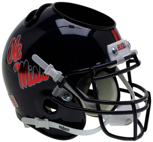 Mississippi (Ole Miss) Rebels Mini Helmet Desk Caddy - Chrome Decal