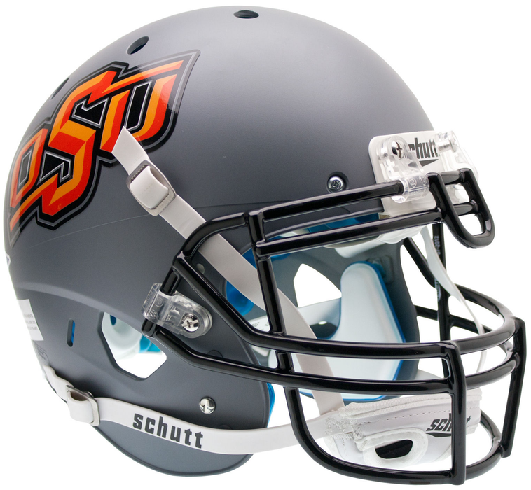 Oklahoma State Cowboys Authentic Schutt XP Full Size Helmet - Matte Gray