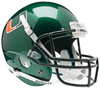 Miami Hurricanes Replica Schutt XP Full Size Helmet - Green