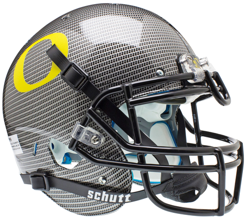 Oregon Ducks Authentic Schutt XP Full Size Helmet - Carbon Fiber