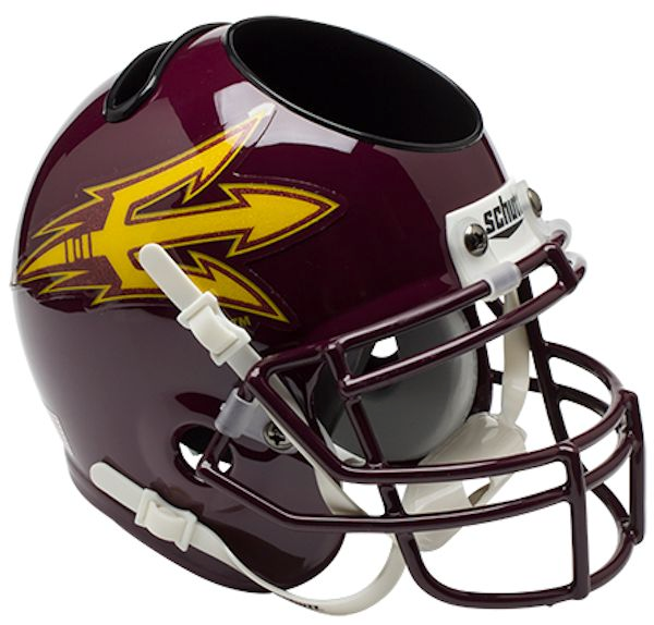 Arizona State Sun Devils Mini Helmet Desk Caddy - Maroon