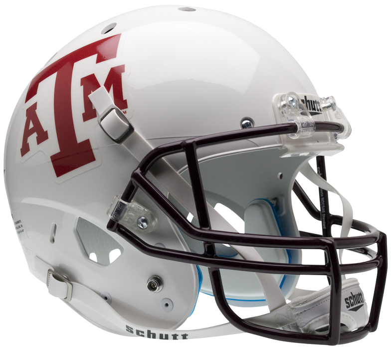 Texas A&M Aggies Replica Schutt XP Full Size Helmet - White - Maroon Mask