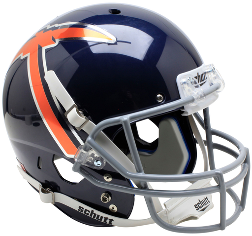 UTEP Miners Replica Schutt XP Full Size Helmet - Black With Pickaxe