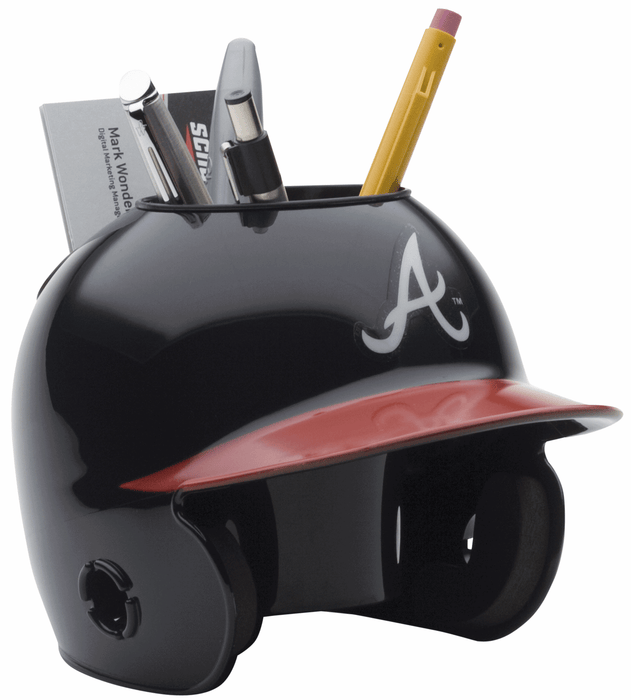 Atlanta Braves Mini Batters Helmet Desk Caddy