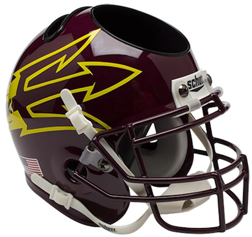 Arizona State Sun Devils Mini Helmet Desk Caddy - Maroon 85