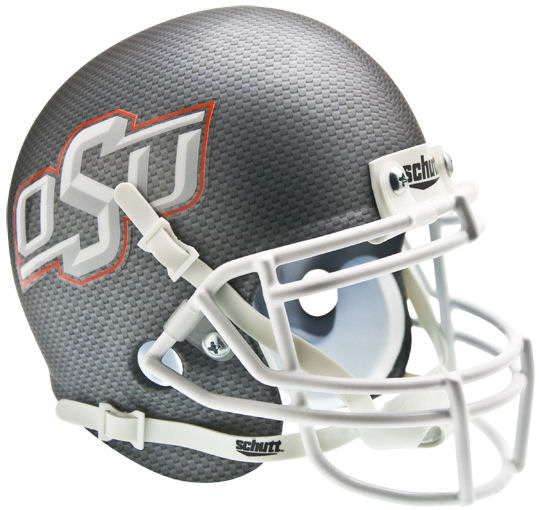 Oklahoma State Cowboys Schutt XP Mini Helmet - Cross Hatch