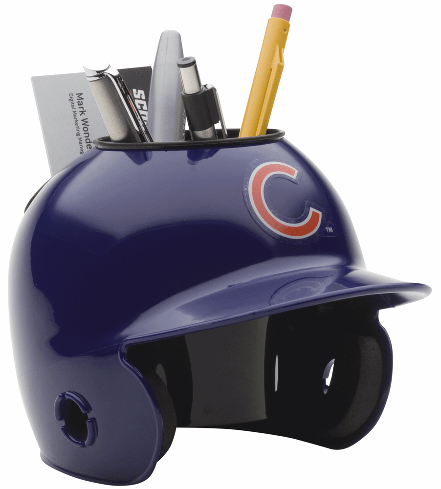 Chicago Cubs Mini Batters Helmet Desk Caddy