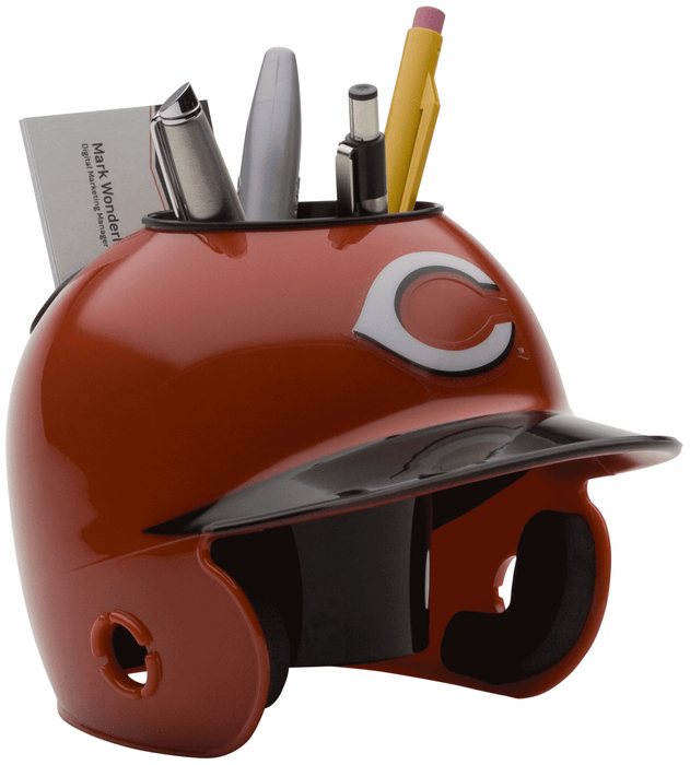 Cincinnati Reds Mini Batters Helmet Desk Caddy