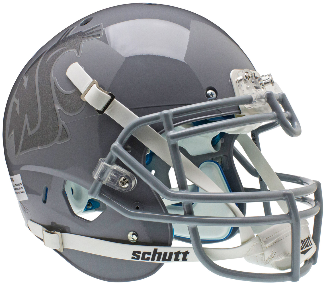 Washington State Cougars Authentic Schutt XP Full Size Helmet - Gray