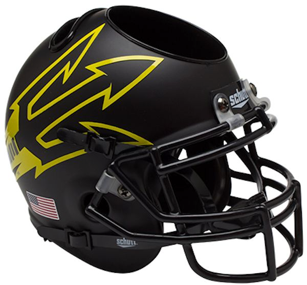 Arizona State Sun Devils Mini Helmet Desk Caddy - Matte Black Large Pitchfork