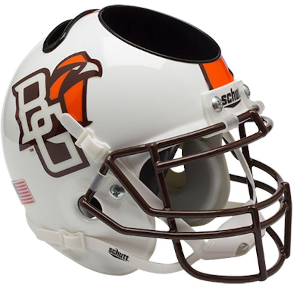 Bowling Green Falcons Mini Helmet Desk Caddy - White