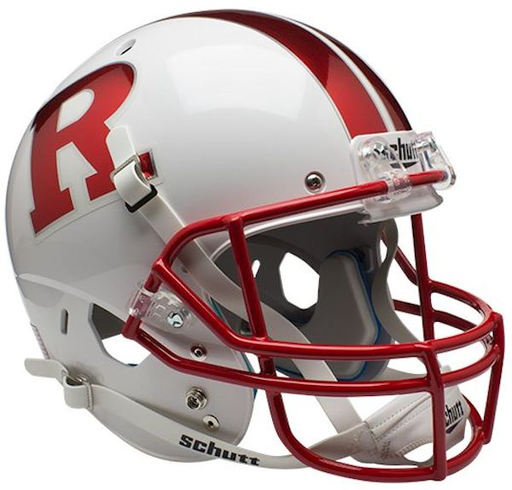 Rutgers Scarlet Knights Replica Schutt XP Full Size Helmet - Chrome R