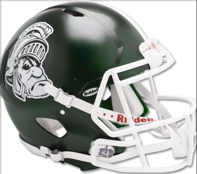 Michigan State Spartans Authentic Full Size Speed Helmet - Gruff Sparty