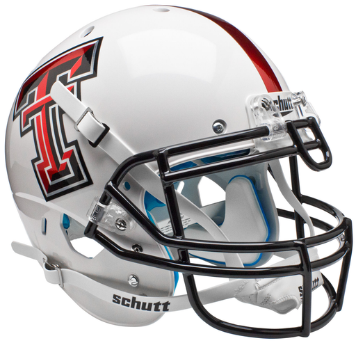 Texas Tech Red Raiders Authentic Schutt XP Full Size Helmet - White Alt 5