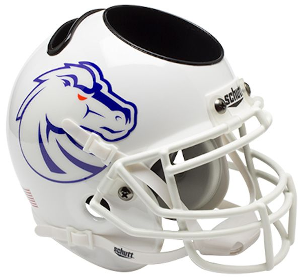Boise State Broncos Mini Helmet Desk Caddy - White