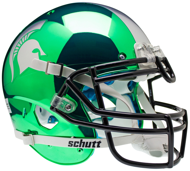 Michigan State Spartans Authentic Schutt XP Full Size Helmet - Chrome