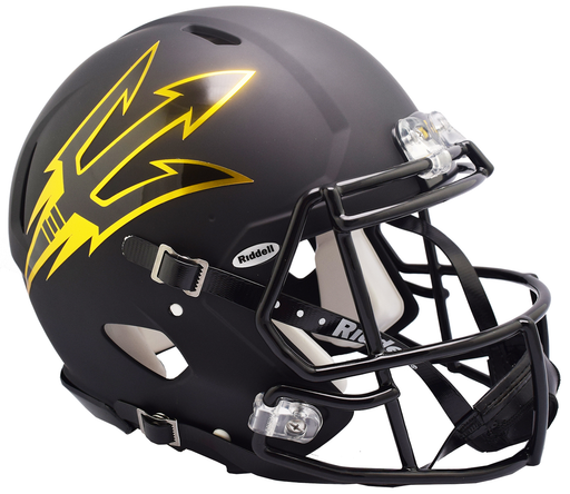 Arizona State Sun Devils Authentic Full Size Speed Helmet - Satin Black