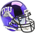 TCU Horned Frogs Schutt XP Mini Helmet - Chrome
