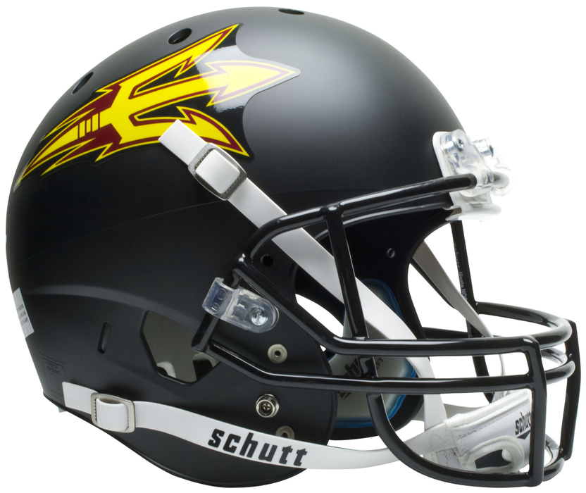 Arizona State Sun Devils Replica Schutt XP Full Size Helmet - Matte Black