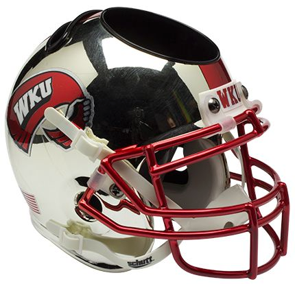 Western Kentucky Hilltoppers Mini Helmet Desk Caddy - Chrome