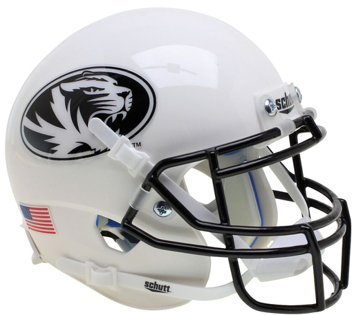 Missouri Tigers Authentic Schutt XP Full Size Helmet - White Tiger