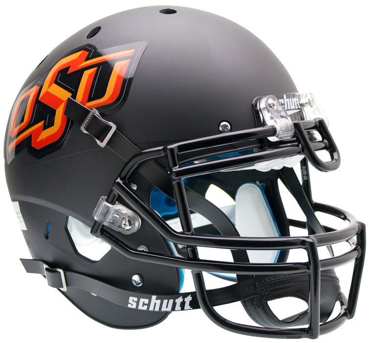 Oklahoma State Cowboys Authentic Schutt XP Full Size Helmet - Matte Black
