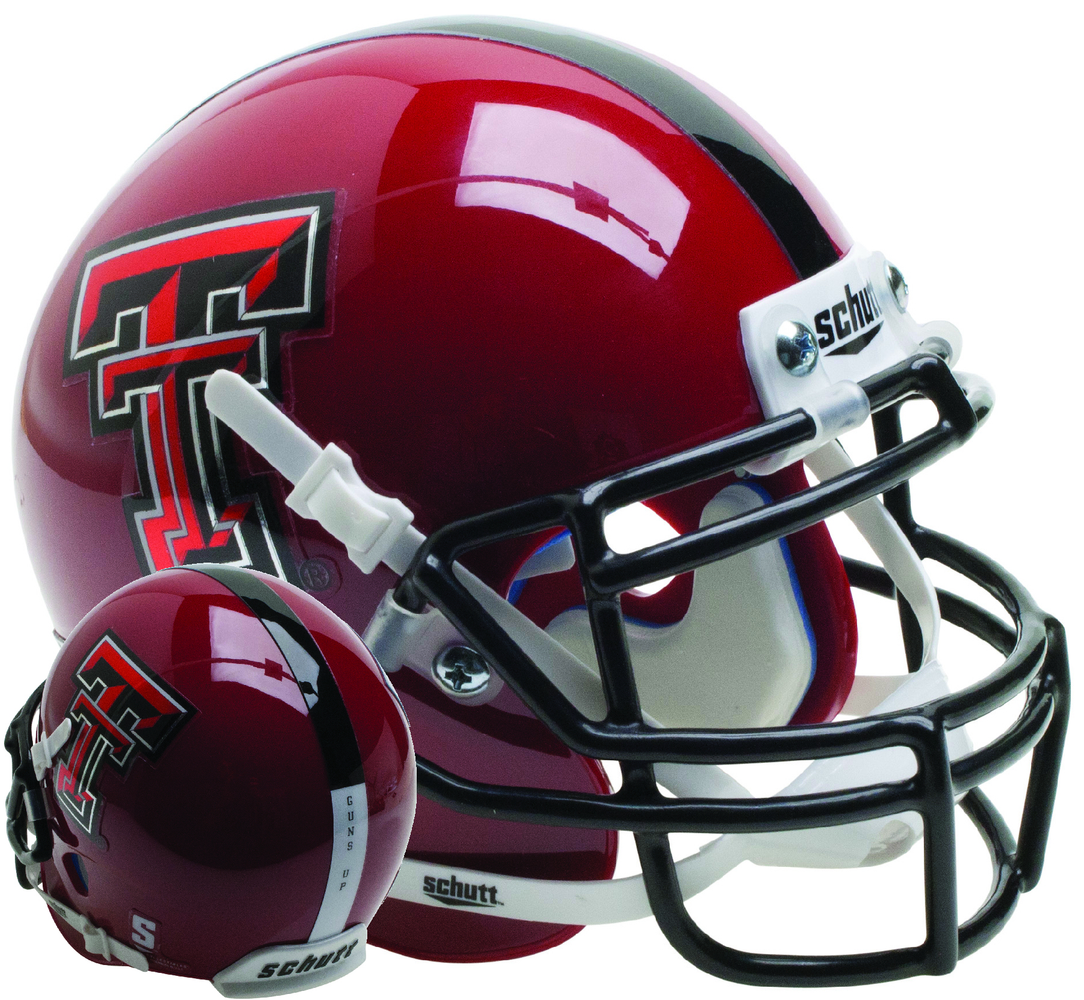 Texas Tech Red Raiders Schutt XP Mini Helmet - Red Guns Up