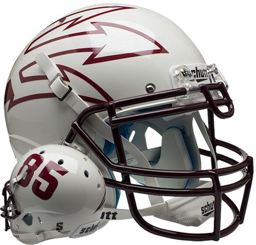 Arizona State Sun Devils Authentic Schutt XP Full Size Helmet - White 85